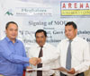 D P Wahlang, Com. & Secy IT Dept. GoM, Signing of MoU with Mr. S H Mawlong, Centre Head  Aptech Arena Animation in the presence of A L Hek, Minister IT Dept.
