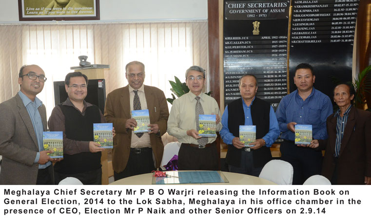 Releasing of the Information Book on General Election, 2014