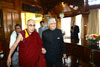 Meghalaya Governor Dr. K.K. Paul welcoming His Holiness, The Dalai Lama