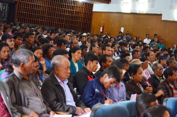 Participants at the awareness programme on NFSA,2013 at U Soso Tham Auditorium Shillong