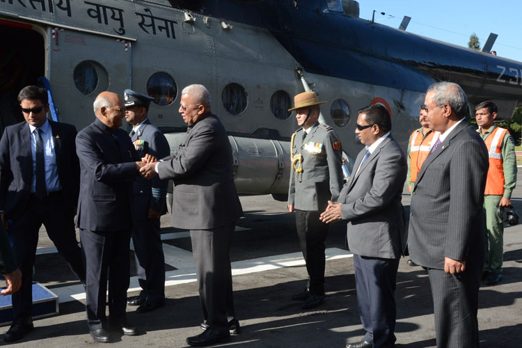 Hon'ble President of India, Shri Ram Nath Kovind on his arrival at the ALG, Upper Shillong during his two- day visit to the State on 3rd November, 2019