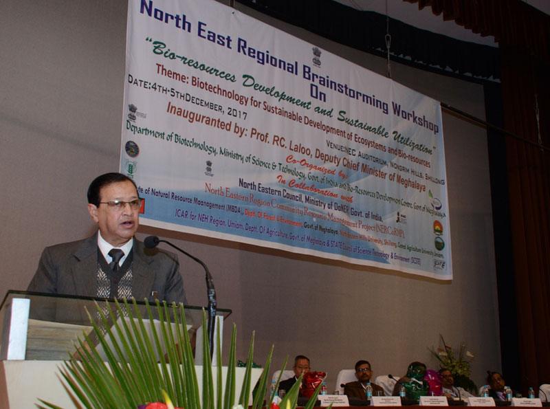 North East Regional Brainstorming Workshop on Bio-Resources Development and Sustainable Utilization 04-12-2017