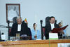 Chief Justice of Meghalaya High Court, Justice P.C. Pant administering the oath of office to Justice S.R. Sen