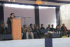 Meghalaya Labour Minister Dr. Ampareen Lyngdoh speaking at the Skill Fest at Govt. ITI, Rynjah