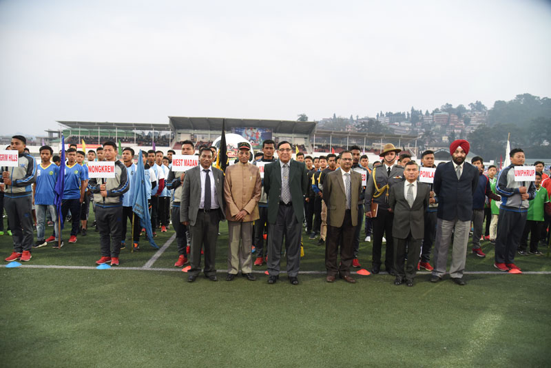 Meghalaya Governor, Shri. Ganga Prasad attending the kick off ceremony of the AR Invitational Football Cup Tournament-2018