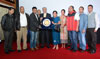 Meghalaya Governor Dr K K Paul felicitating Mr. Pradip Kurbah and his team for his award winning film 'Ri'