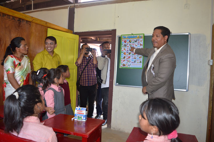CM adopts School in West Khasi Hills 09-10-2018