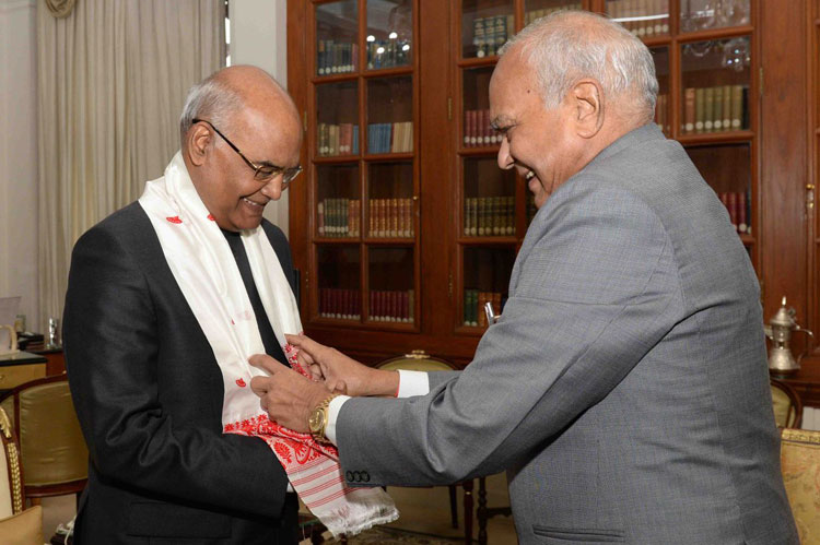 Meghalaya Governor, Shri. Banwarilal Purohit meets the President of India, Shri. Ram Nath Govind