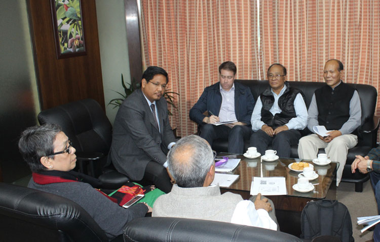 Chief Minister, Shri. Conrad K. Sangma meeting a delegation of the India Mountain Initiative (IMI)