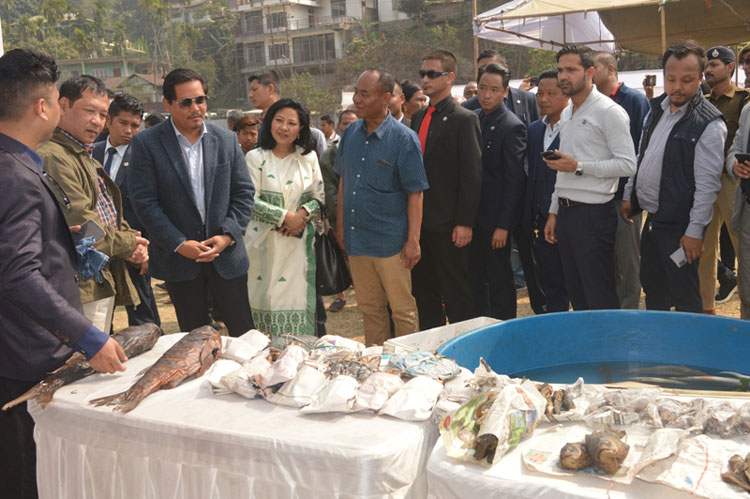 Chief Minister inaugurates the 3rd Fish Festival at Tura 14-02-2020