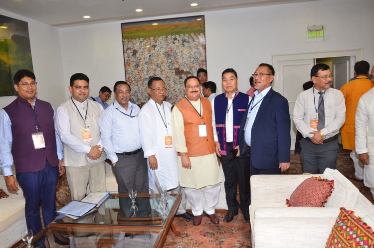 J P Nadda meets Health Ministers of North East states 14-06-2018