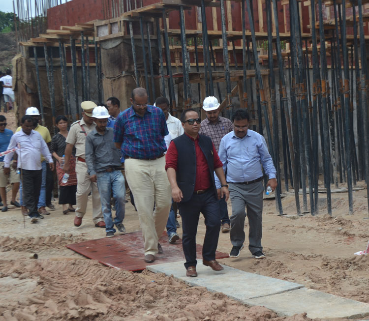 Sports Minister inspects construction of International Multi-Sports Stadium 16-08-2018