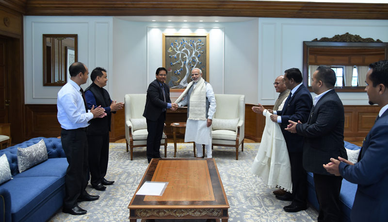 Chief Minister meets Prime Minister in New Delhi 17-03-2018