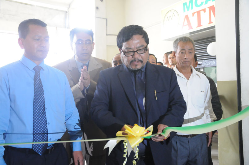 Meghalaya Minister for Cooperation Mr. HDR Lyngdoh inaugurating the 47th Branch of the Meghalaya Cooperative Apex Bank