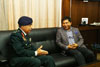 Lt Gen. MMS Rai General Officer Commanding in Chief, Eastern Command calling on Meghalaya Chief Minister, Dr. Mukul Sangma