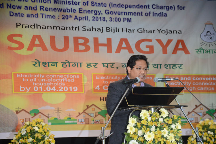 Saubhagya Scheme launched in the State 20-04-2018