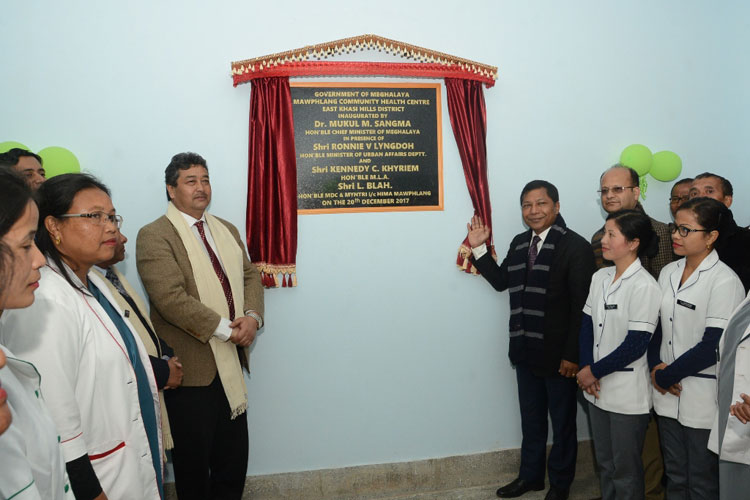 Chief Minister inaugurates Mawphlang Community Health Centre 20-12-2017