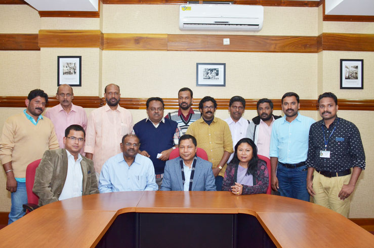 Senior journalists from Kerala during their Press Tour to the State called upon Chief Minister, Dr Mukul M Sangma at his Office chamber