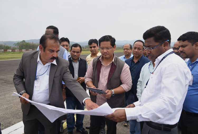 CM inspects Mawlai bypass and Shillong Airport 21-04-2018