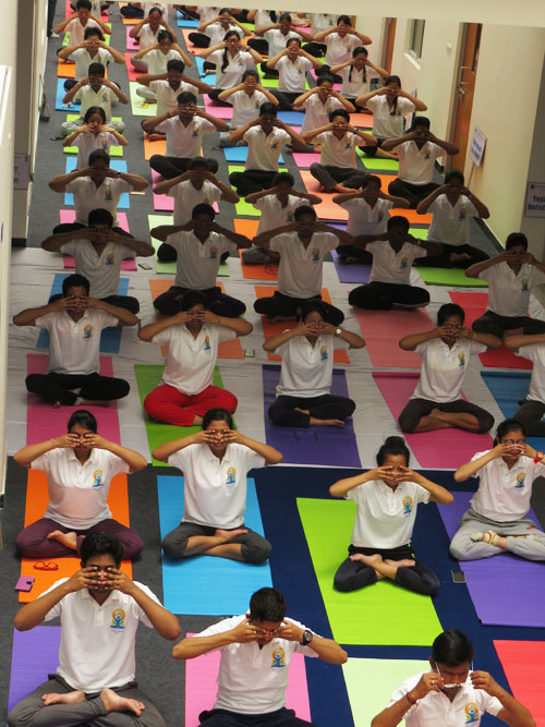 World Yoga Day celebration at NEIAH, Mawdiangdiang, Shillong on 21-06-2017