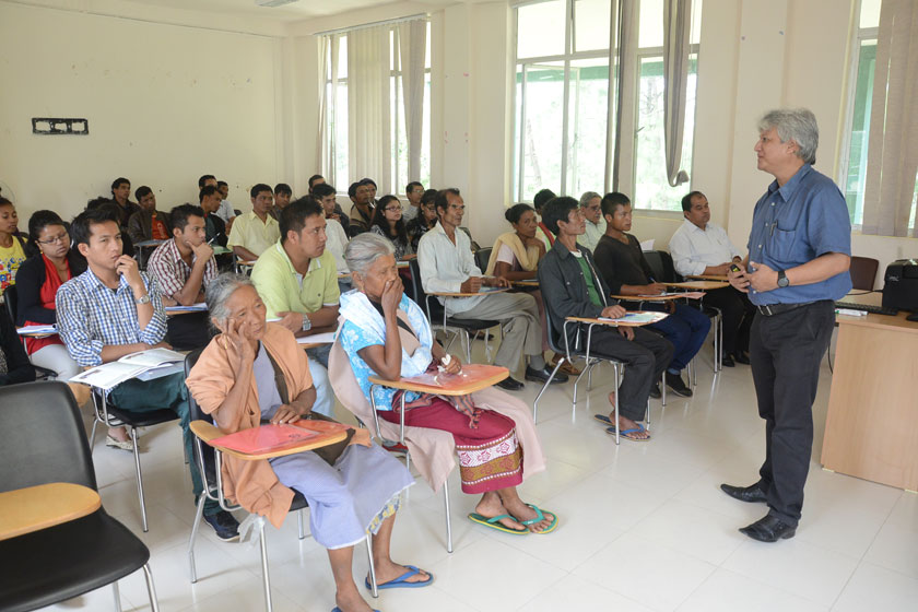 Farmers and Entrepreneurs attending the workshop on Value Addition of Chow Chow at SIRD Nongsder