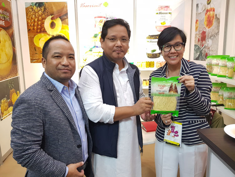 Meghalaya CM at Sial Paris to explore possibility of food processing 21-10-2018