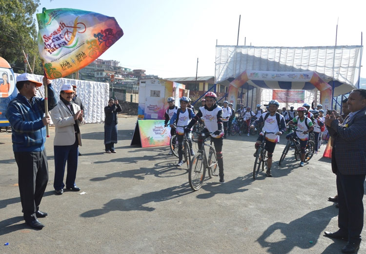 DC Flags off Swasth Bharat Yatra Cycle Rally 21-11-2018