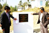 Mr. S Goyal unveiling the tablet for the construction of Youth Cultural Centre at Mawpat