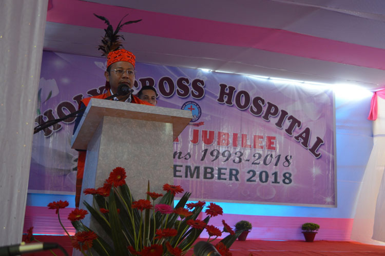 Silver Jubilee celebration of Holy Cross Hospital at Tura 25-11-2018
