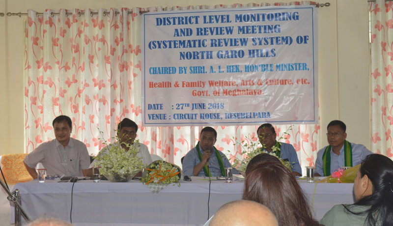 District level review and monitoring meeting held in Resubelpara 27-06-2018
