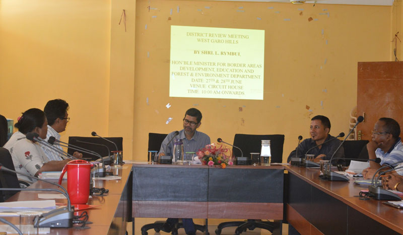 Education Minister reviews implementation of schemes in West Garo Hills District 27-06-2018