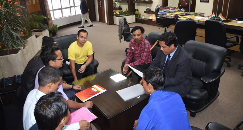 CM, Shri. Conrad K Sangma during the meeting with members of Khasi Disabilities Association on 28-03-2018