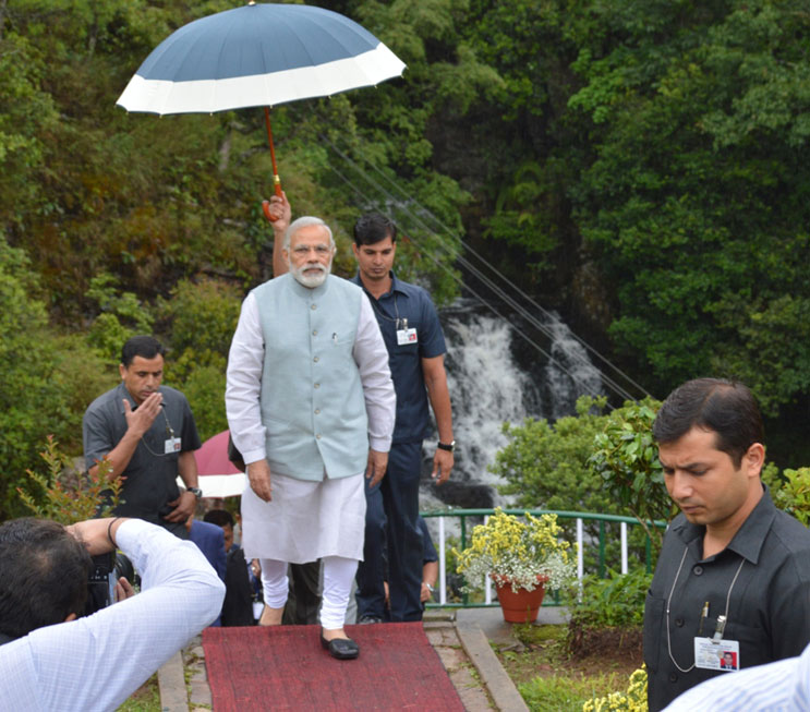 Prime Minsiter Narendra Modi during his visit to Mattilang Park