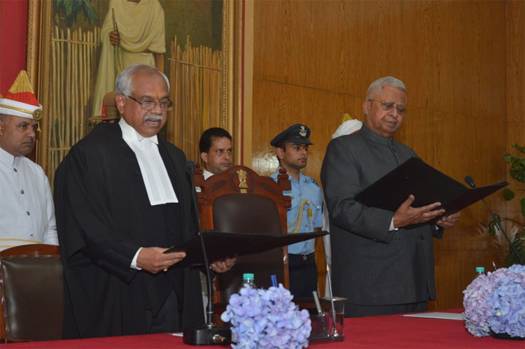 Hon'ble Mr. Justice A. K. Mittal being sworn in as the Chief Justice of the High Court of Meghalaya