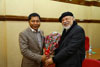 Meghalaya Chief Minister, Dr. Mukul Sangma welcoming Bangladesh High Commissioner to India, Mr. Tariq A Karim