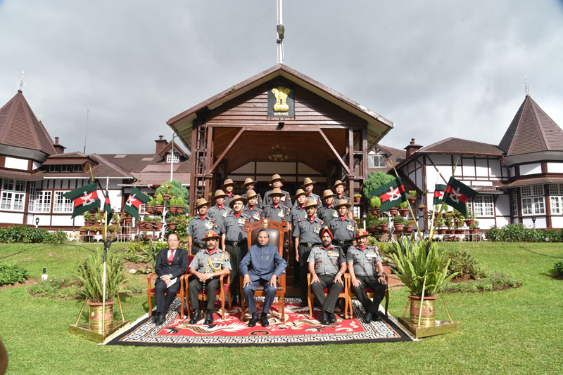 Meghalaya Governor, Shri Ganga Prasad alongwith with the recipients of Assam Rifles Governor's Gold and Silver medal