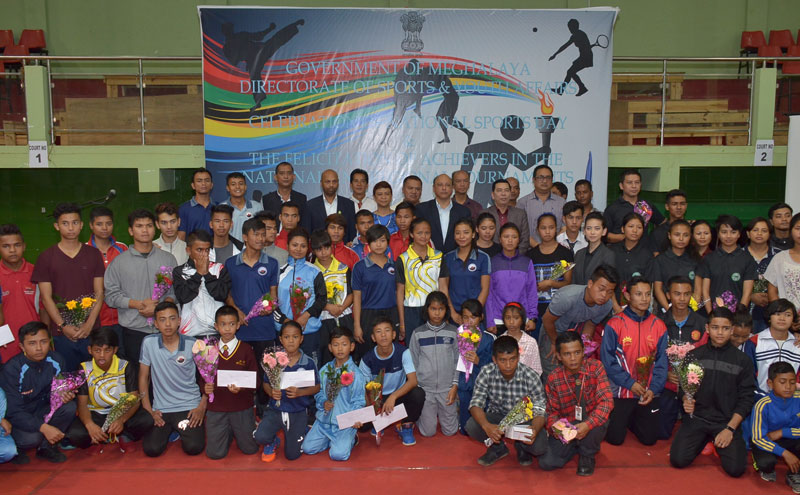 Sportspersons felicitated 29-08-2017